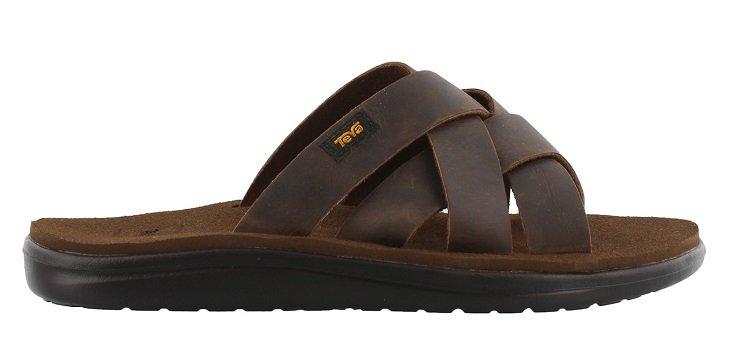 Teva Voya Slide Leather Sandal Herre