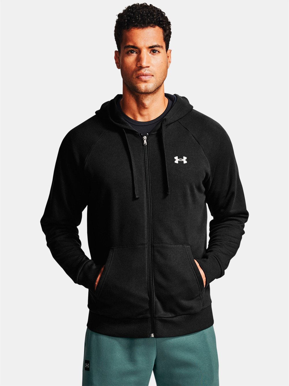Under Armour Rival Cotton Hoodie Herre, sort