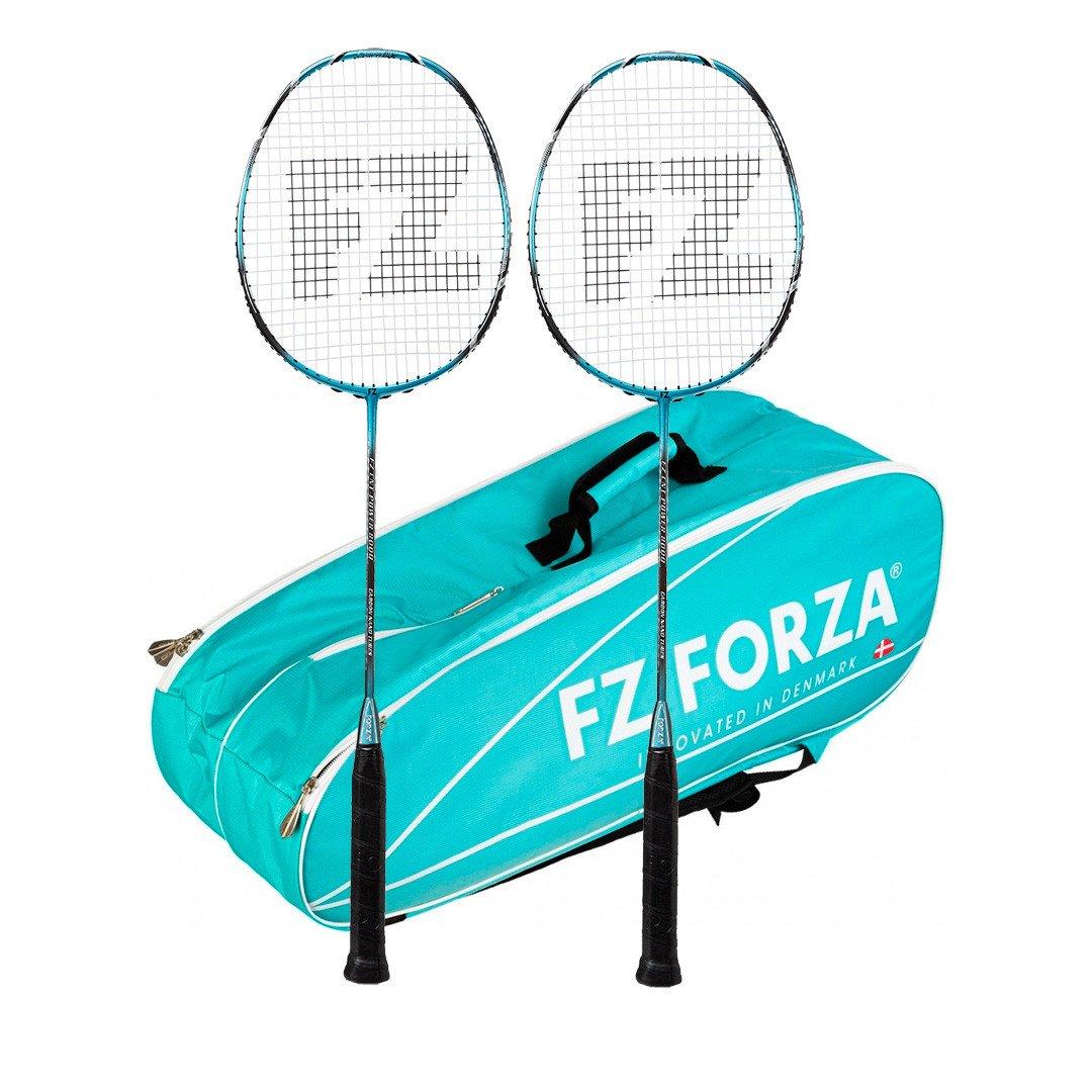 FZ FORZA Kevlar CNT-Power 8000 - 2 stk. / Martak Badmintonpakke - turkis