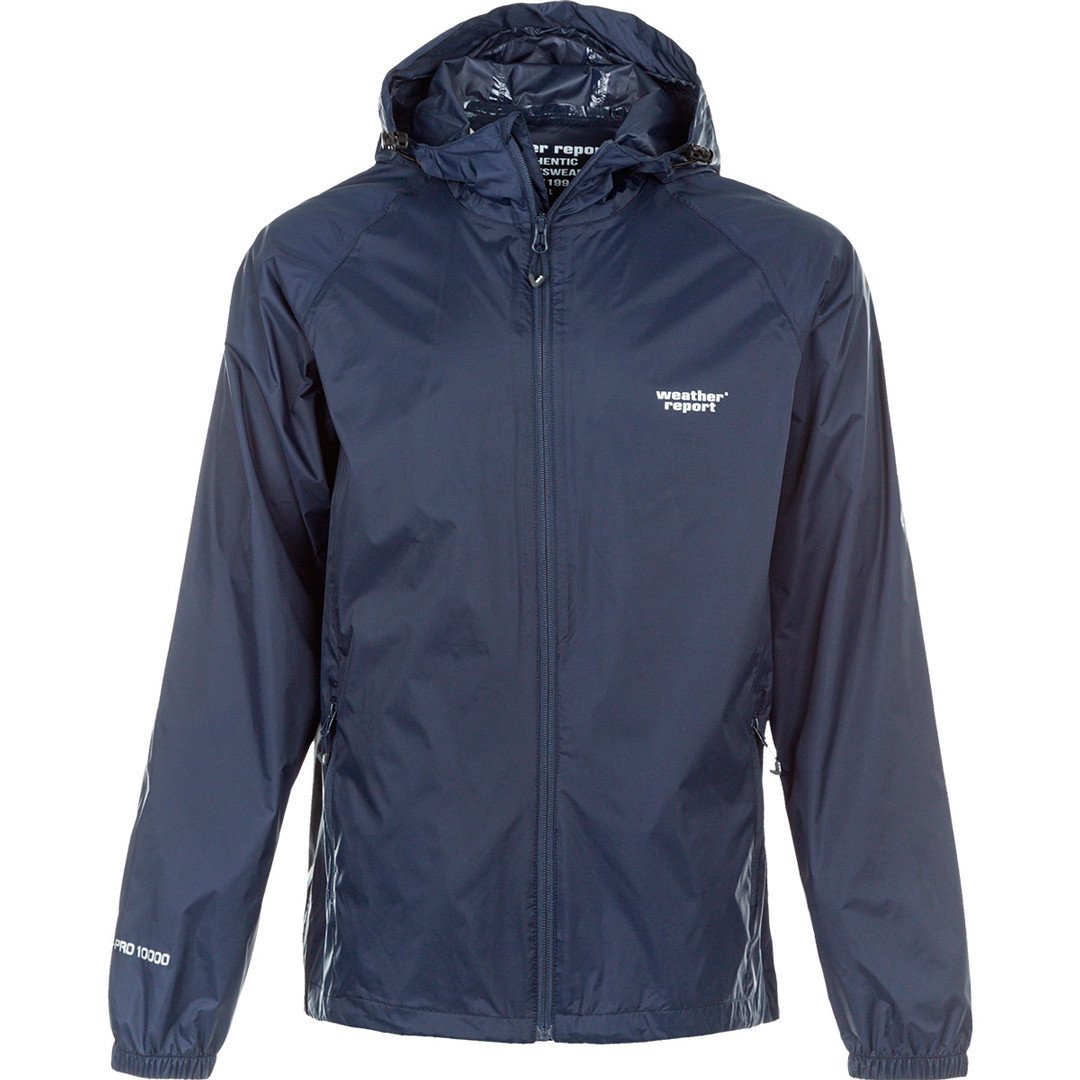 Weather Report Morisee Unisex Packable Jakke, navy blazer