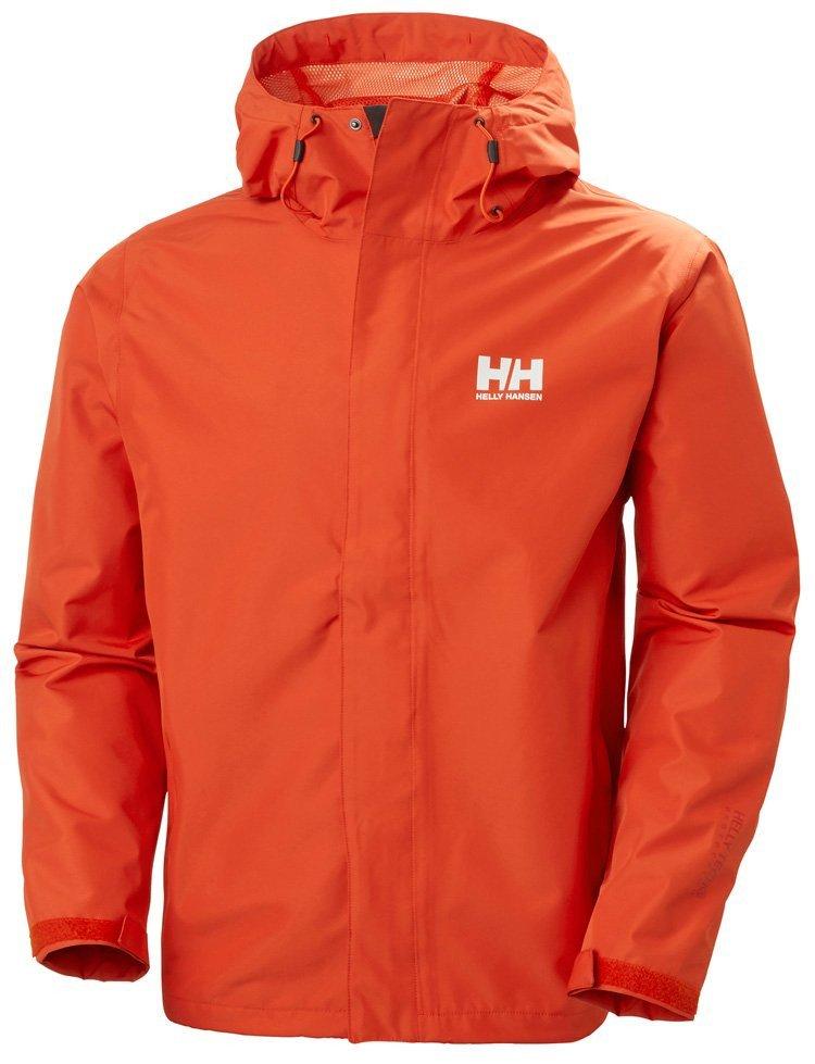 Helly Hansen Seven J Regnjakke Herre, patrol orange