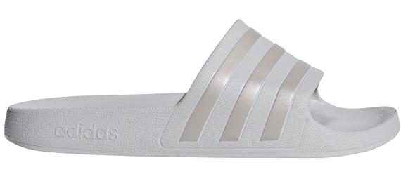 Adidas Adilette Badesandaler, lysegrå