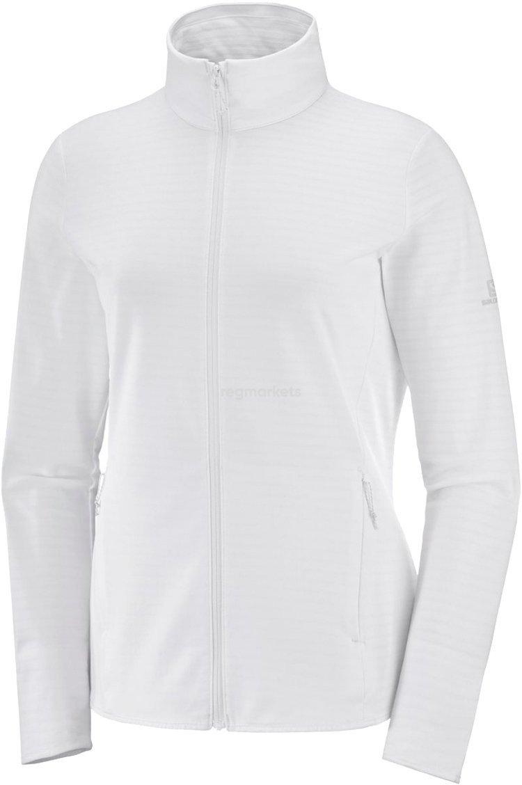 Salomon Outrack Full-Zip Midlayer Dame, hvid