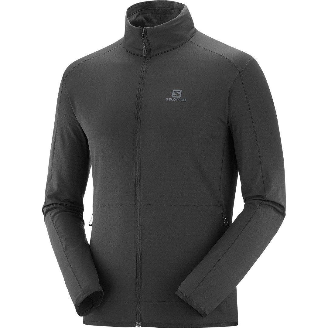 Salomon Outrack Full-Zip Midlayer Herre, sort