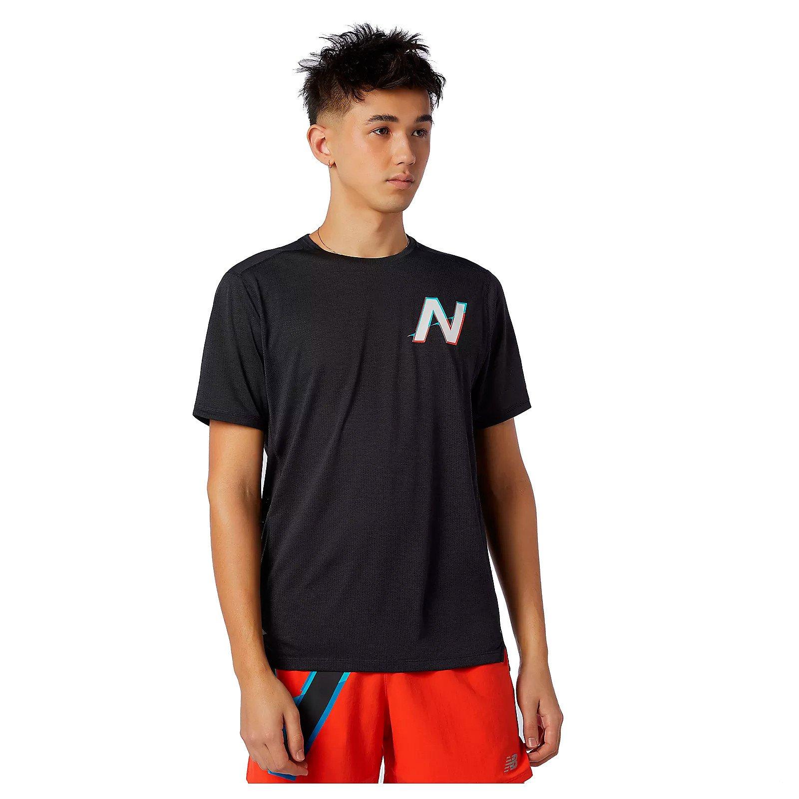 New Balance Printed Impact Run T-shirt Herre