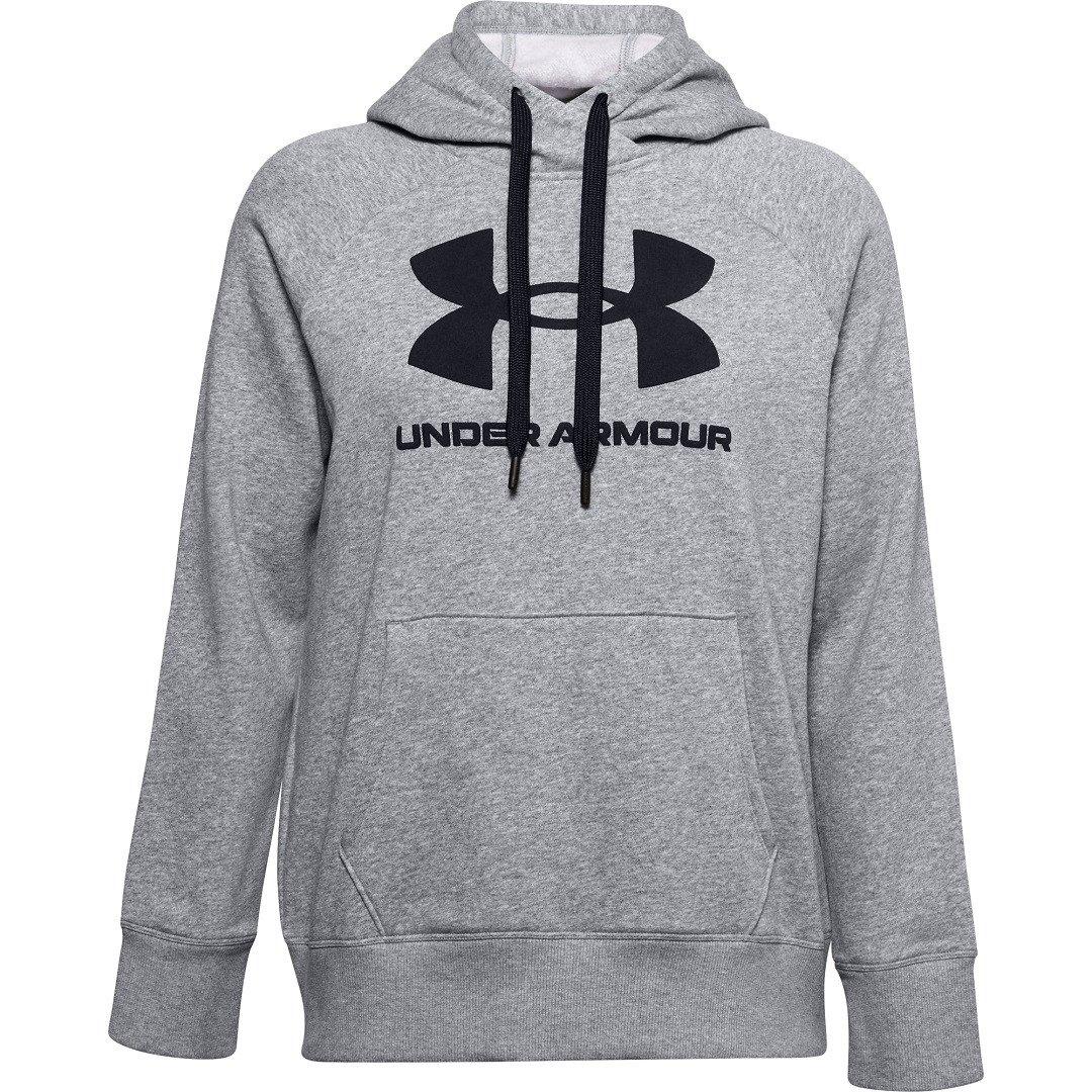 Under Armour Rival Fleece Logo Hoodie Dame, grå