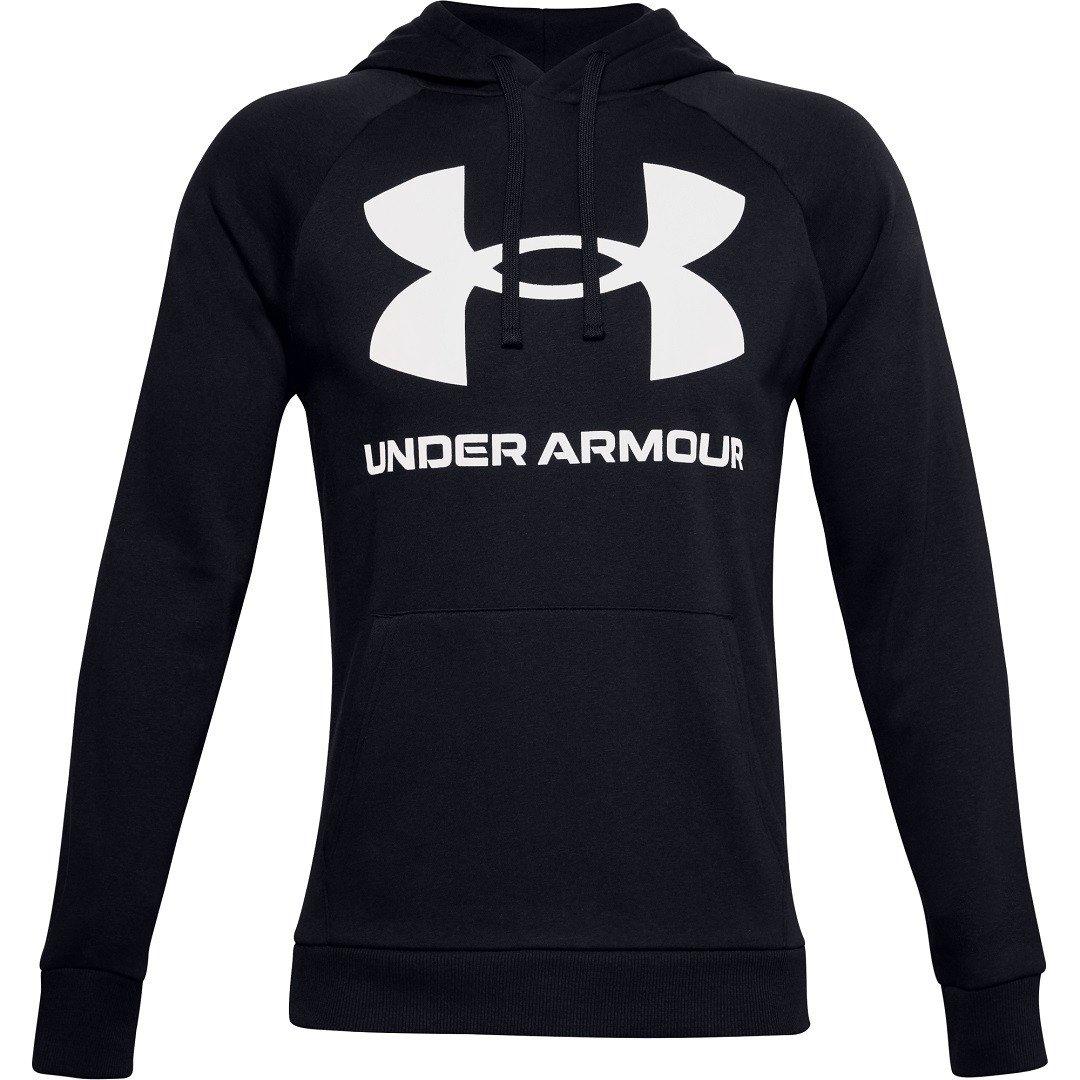 Under Armour Rival Fleece Big Logo Hoodie Herre, sort
