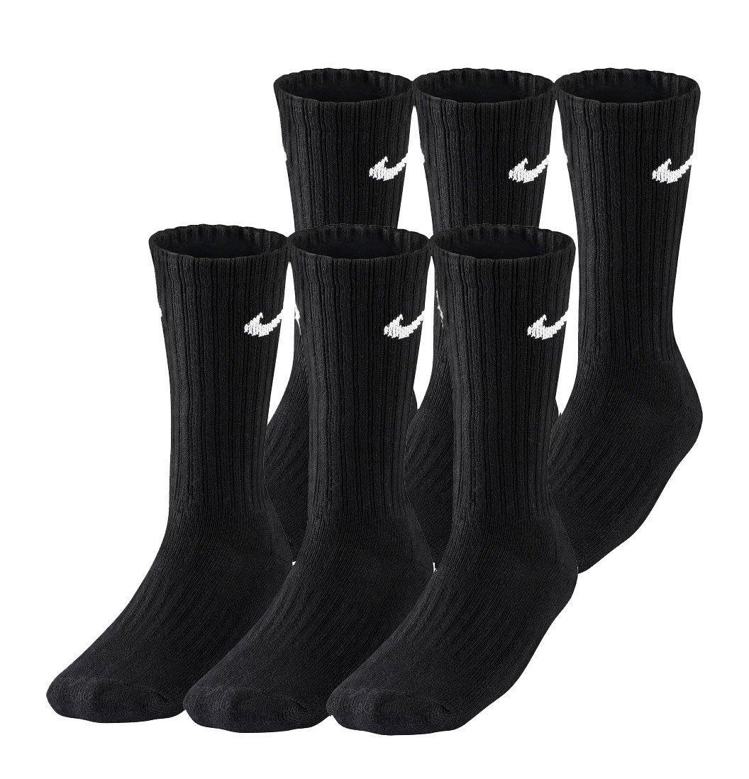 Nike 6-pak Cotton Crew Strømper sorte