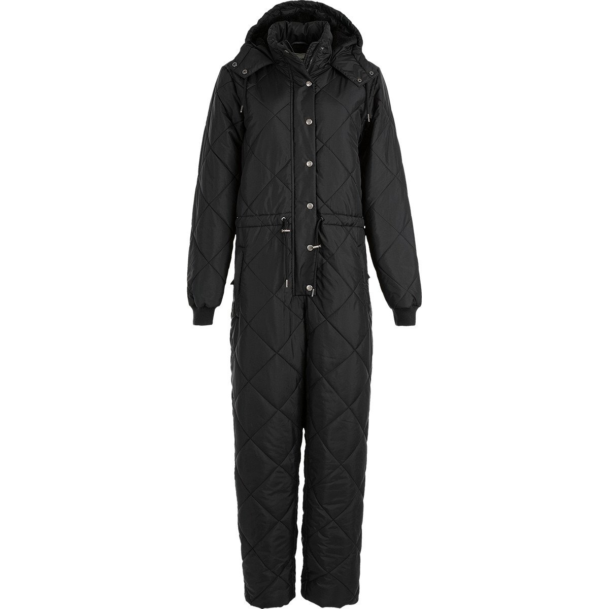 Weather Report Mina Quilted Jumpsuit Dame, sort
