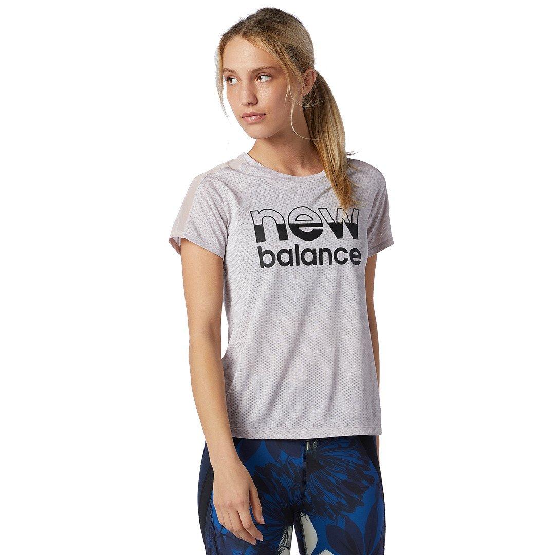 New Balance Printed Impact Run T-shirt Dame