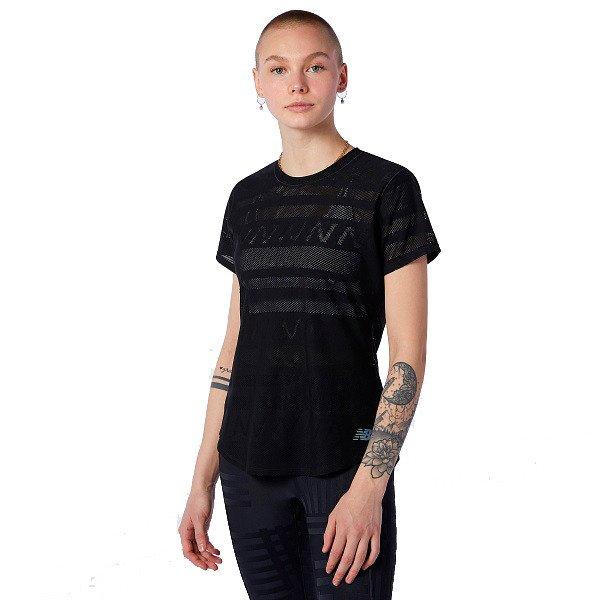 New Balance Speed Jacquard T-shirt Dame, sort