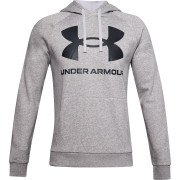 Under Armour Rival Fleece Big Logo Hoodie Herre, grå
