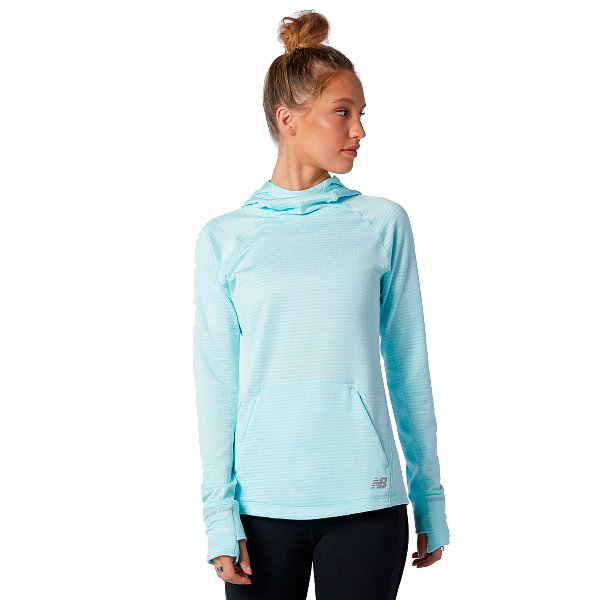 Køb New Balance Heat Grid Hoodie Dame, lyseblå