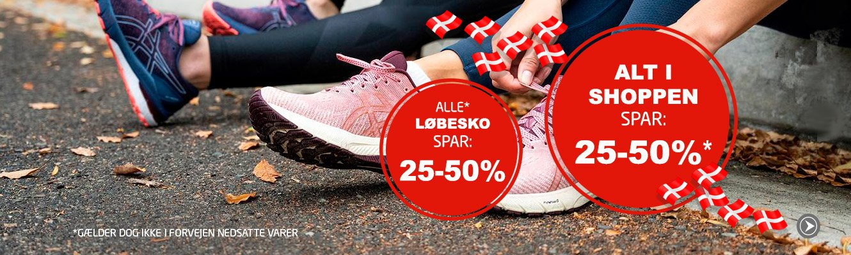 Alle* Løbesko spar min. 25%