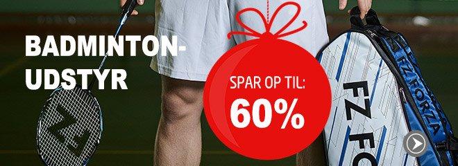 Badmintonudstyr spar op til: 60%