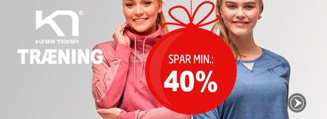Kari Traa Træning spar min. 40%