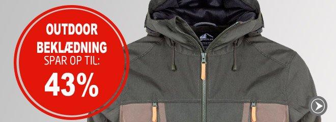 Outdoor beklædning spar op til: 43%