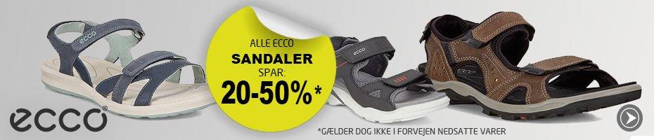 Alle Ecco Sandaler spar min. 20%*