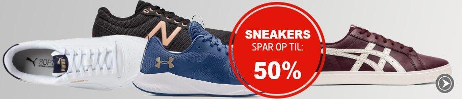 Masser af sneakers til meget skarpe priser