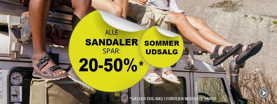 Kampagne på alle sandaler - Lige nu 20-50%